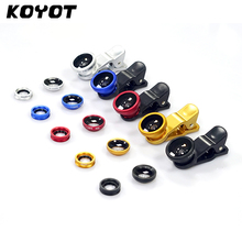 KOYOT Universal Clip 3in1 Fish Eye + Clip Fisheye Smartphone Camer Wide Angle Macro Fisheye Mobile Phone Lens For iPhone7 6 5(China)