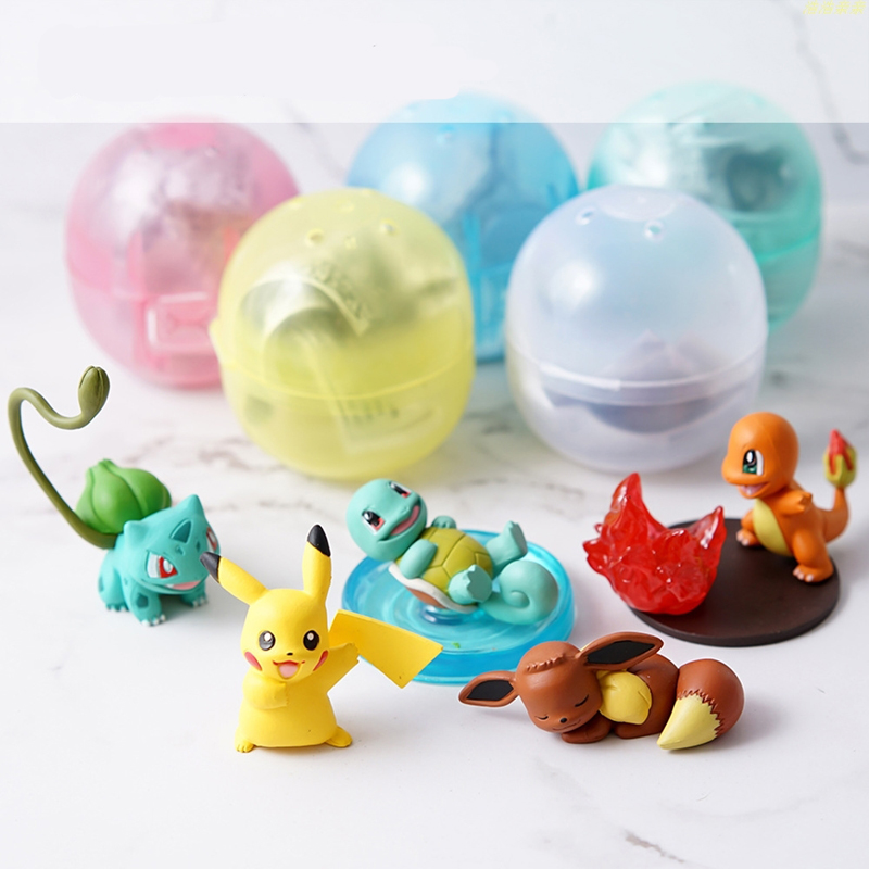 Doll Machine Twisted Egg Doll Pokemon Pokemon Ornaments Pikachu Charmander Eevee Model Action Figure Kids Toy Gift image