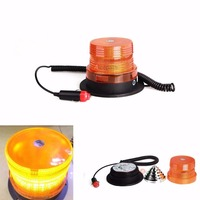 CYAN SOIL BAY High Intensity 40W 10 LED Emergency Flash Strobe Rotating Beacon Warning Light Amber