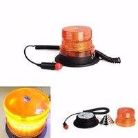 CYAN SOIL BAY High Intensity 40W 10 LED Emergency Flash Strobe Rotating Beacon Warning Light Amber