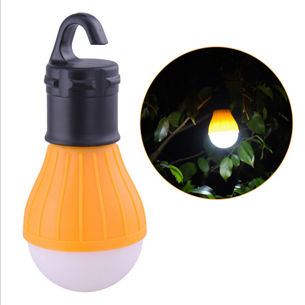 4 Colors Use Mini Portable Lantern Tent Light LED Bulb Waterproof Hanging Hook Flashlight For Camping 3*AAA Emergency Lamp