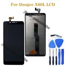 العرض الأصلي ل Doogee X60L LCD قطع غيار للشاشة تعمل باللمس ل Doogee x60l ملحقات الهاتف المحمول أداة مجانية
