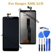 Original display für Doogee X60L LCD + touch screen ersatz für Doogee x60l handy zubehör freies werkzeug