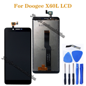Image 1 - Oryginalny wyświetlacz do Doogee X60L LCD + wymiana ekranu dotykowego do Doogee x60l akcesoria do telefonu komórkowego darmowe narzędzie