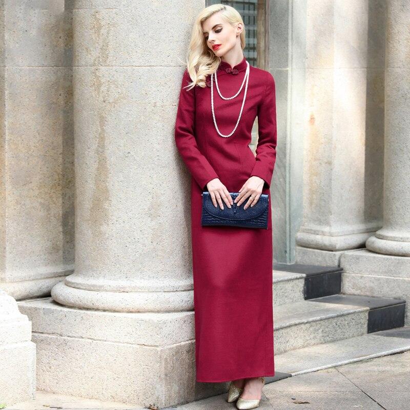 Popular Wool Maxi Dress-Buy Cheap Wool Maxi Dress lots from China ...