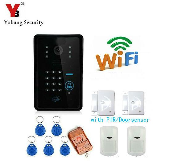 Yobang Security WIFI Video Door Phone Wifi Doorbell Home Video Intercom Door phone System RFID Door Camera IR Camera Doorphone yobang security video doorphone camera outdoor doorphone camera lcd monitor video door phone door intercom system doorbell