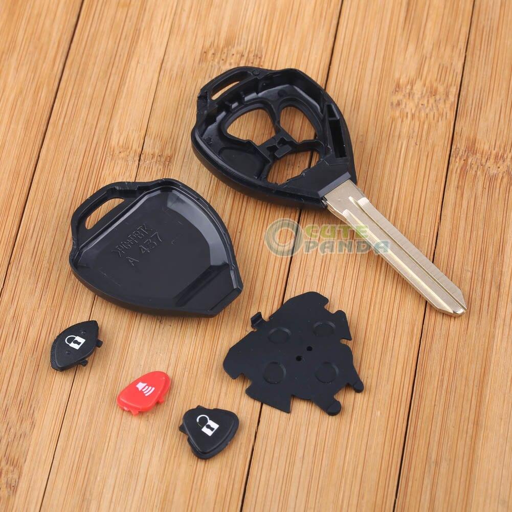 Remote key shell case fob for toyota venza camry rav4 yaris scion tc 3bt