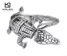 Kalen Gothic Jewelry Punk Biker 316L Stainless Steel Men's Lezard Bracelet Fashion Unique Birthday Gifts For Boyfriend 2016