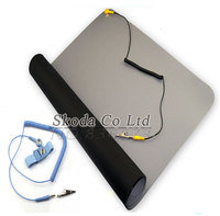 Free Shipping 700 500 2 0mm Anti Static Mat Ground Wire ESD Wrist For Mobile Computer