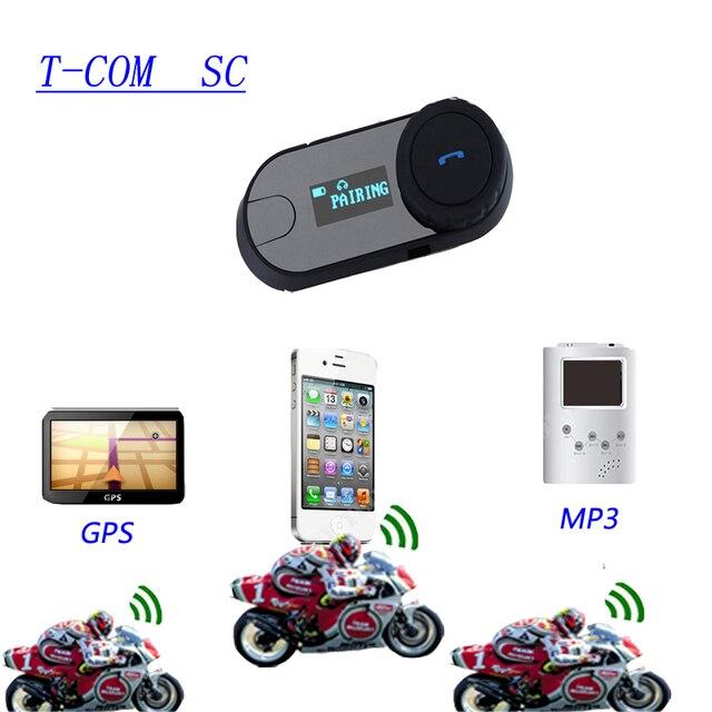 1 Pc Bt Intercom T-com Sc Intercomunicador Motorcycle Helmet Headset Motorcycle Helmet Speakers Motorcycle Bluetooth Headset
