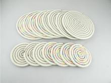 Eco-friendly Cotton Placemat Pad Dining Table Mats Handmade Knitting WeavingTable Pad Coaster Table Decoration Kitchen wares