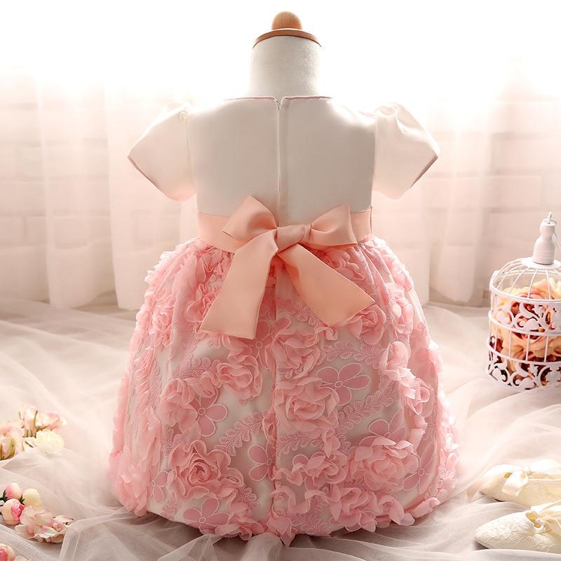 72c201d2e107e Autumn Winter New Baby Hundred Day Dress Girl Rose Princess Dress ...