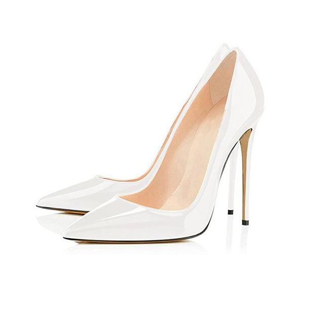 Big Sale Sexy Pointed Toe High Heel Pumps Patente Leather Thin Heels Woman Shoe 3