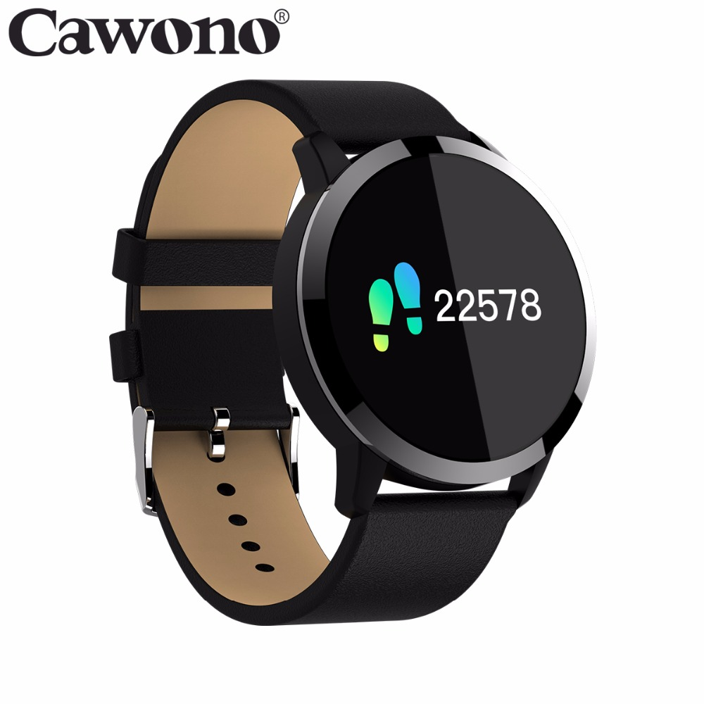 Cawono CW5 עמיד למים Smartwatch חכם ספורט כושר שעון גברים נשים קצב לב צג לביש התקני עבור IOS אנדרואיד טלפון