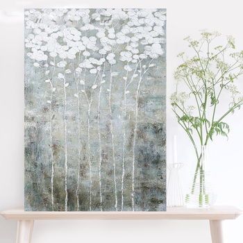 Handmade Silver thick knife abstract oil painting Abstract on Canvas New Style Still Life Painting Picture Decor Oil Painting