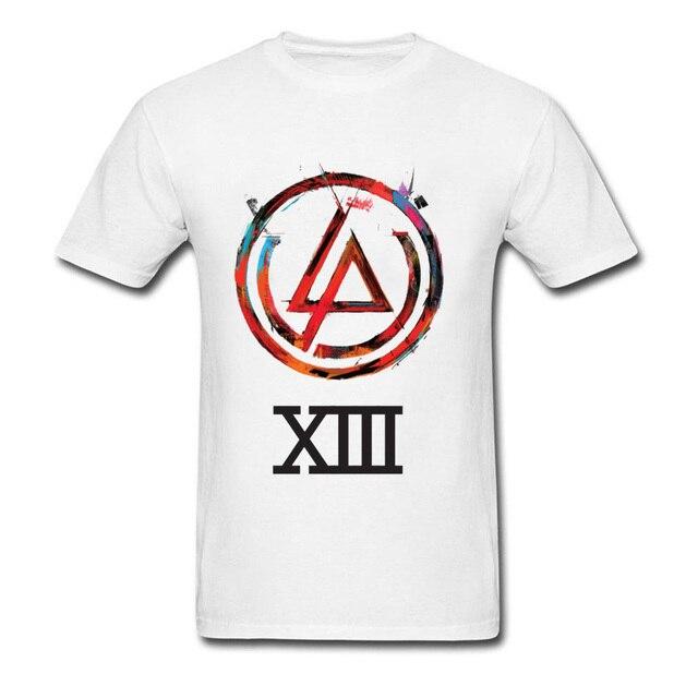 a50e04fb9 Men White T Shirts Linkin Park Logo Figures Printed On Tops Shirt Men Tshirt  Heisenberg Customized Tees Summer Justin Bieber