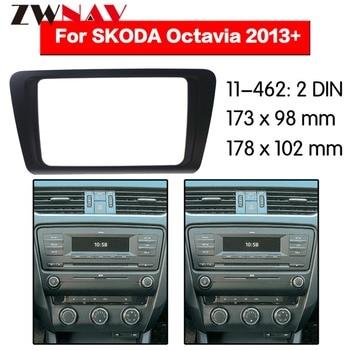 DVD Player do carro quadro Para 2013 + SKODA OCTAVIA Auto AC Preto LHD RHD Auto Rádio Multimídia NAVI fáscia