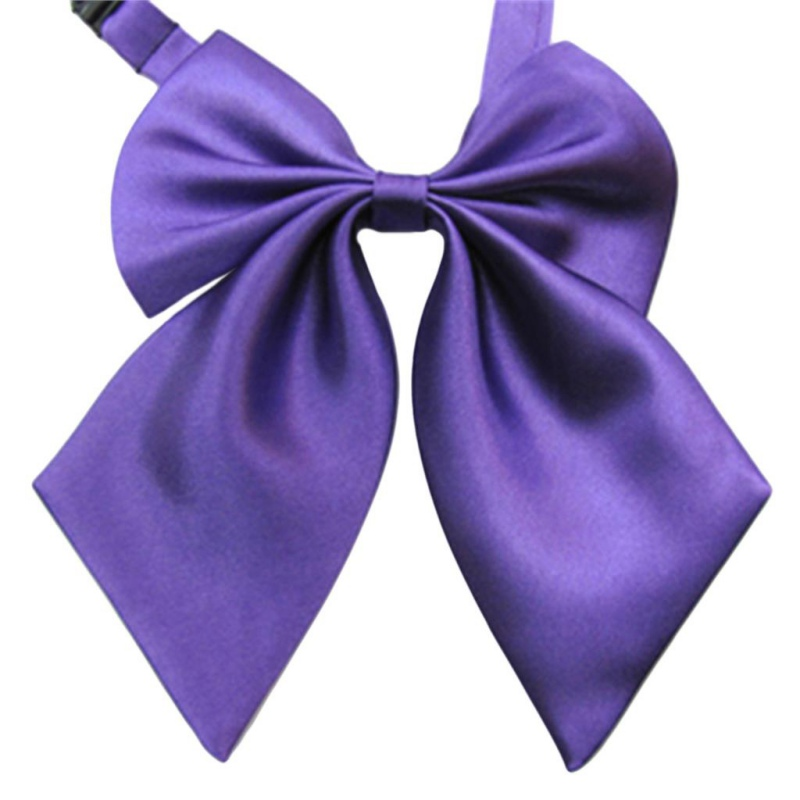 Fashion Solid Color Butterfly Women Cravat Neckwear Adjustable Party Bow Tie Y001