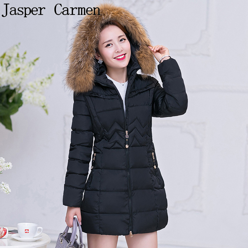 Free shipping 2016 New Winter Jacket Women Fashion Large Size M-4XL Thickening Jacket Parka Fur Collar Long Winter Coat 67hfx free shipping to women new winter down jacket large collars thickening ms cultivate one s morality