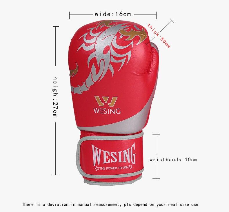 239e743fc Compre Wesing Novos Homens Luvas De Boxe Mulheres Escorpião Padrão ...