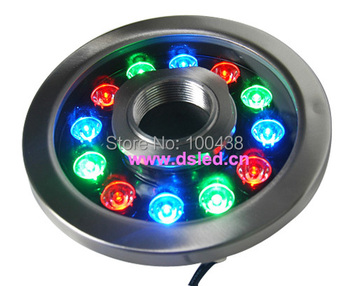 Stainless steel,CE,P68,high power 12W LED RGB pool light,LED RGB fountain light,DS-10-38-12W-RGB,24V DC,2-Year warranty