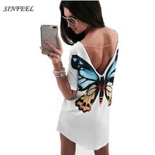 White Printing TShirt 3D Cat Butterfly T-Shirt Women Tops Casual Female Round Ne