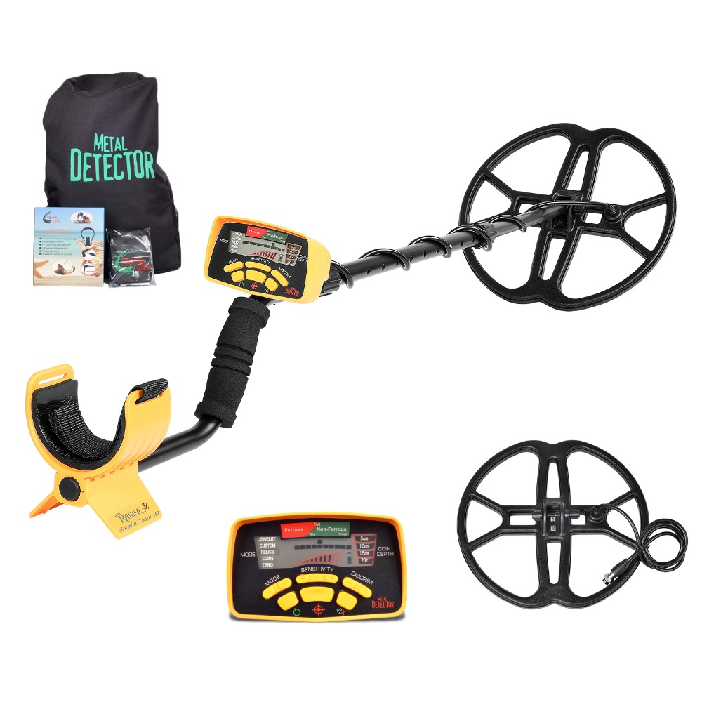 Professional Underground Metal Detector <font><b>MD6350</b></font> Gold Digger Treasure Hunter MD-6350 LCD Display Pinpointer Metaldetektor Coil image