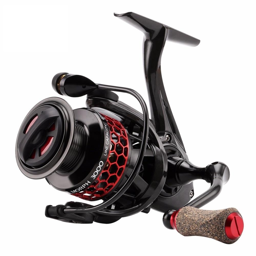 New Spinning Fishing Reel MORPH 2000 3000 11BB 5.2:1 ATD Cutted Aluminum Spool C60 Carbon Fiber Body Spinning Fish Wheel seaknight high speed wr2000 3000 6 2 11bb spinning fishing reel