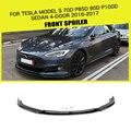 Углеродное волокно/FRP передний бампер спойлер для Tesla Model S 70D P85D 90D P100D Седан 4 двери 2016 2017