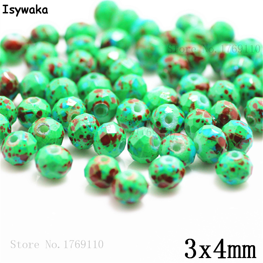Isywaka 3X4mm 30,000pcs Rondelle  Austria faceted Crystal Glass Beads Loose Spacer Round Beads for Jewelry Making NO.03Isywaka 3X4mm 30,000pcs Rondelle  Austria faceted Crystal Glass Beads Loose Spacer Round Beads for Jewelry Making NO.03