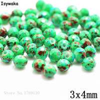 Isywaka 3X4mm 30,000pcs Rondelle Austria faceted Crystal Glass Beads Loose Spacer Round Beads for Jewelry Making NO.03