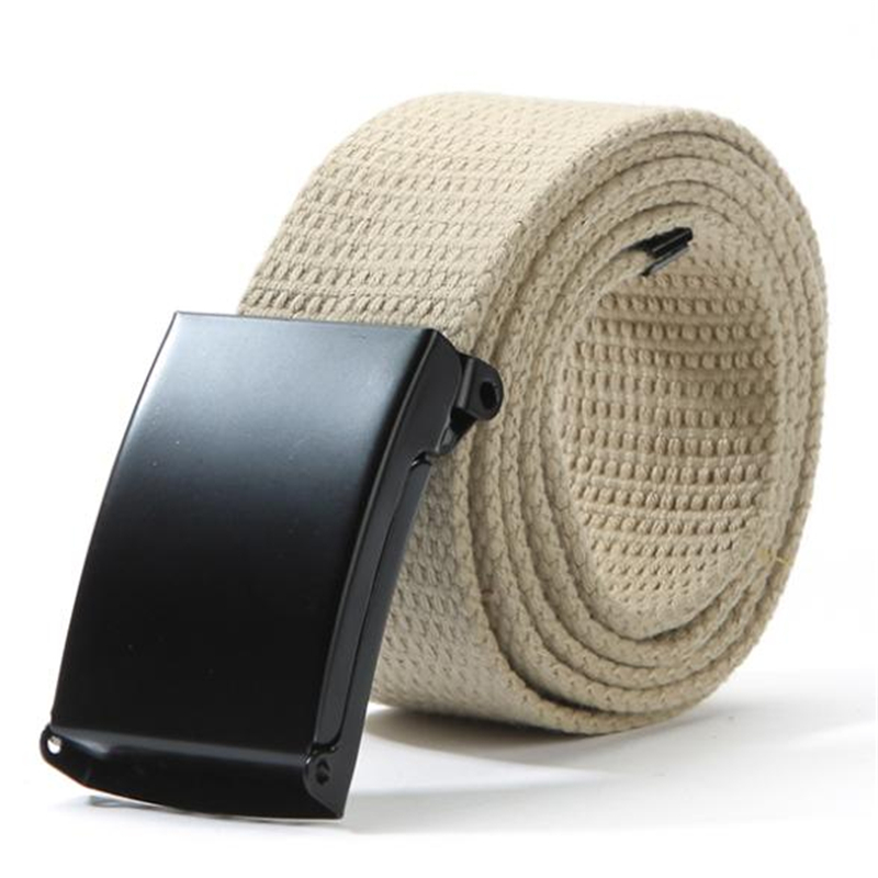 Unisex Waist Belt Mens Boys Plain Webbing Waistband Casual Canvas Belt