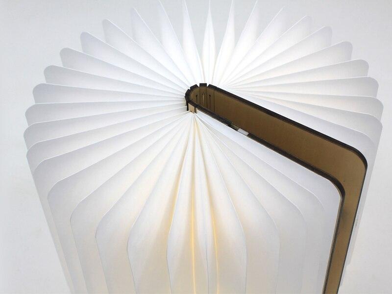 0novelty Lightsamp; Folding Your Lamps Wooden Usb Body Led Light Paper Lamp Lighting Us110 Night New Color Table Swich Novelty From In Book ulFJK135Tc