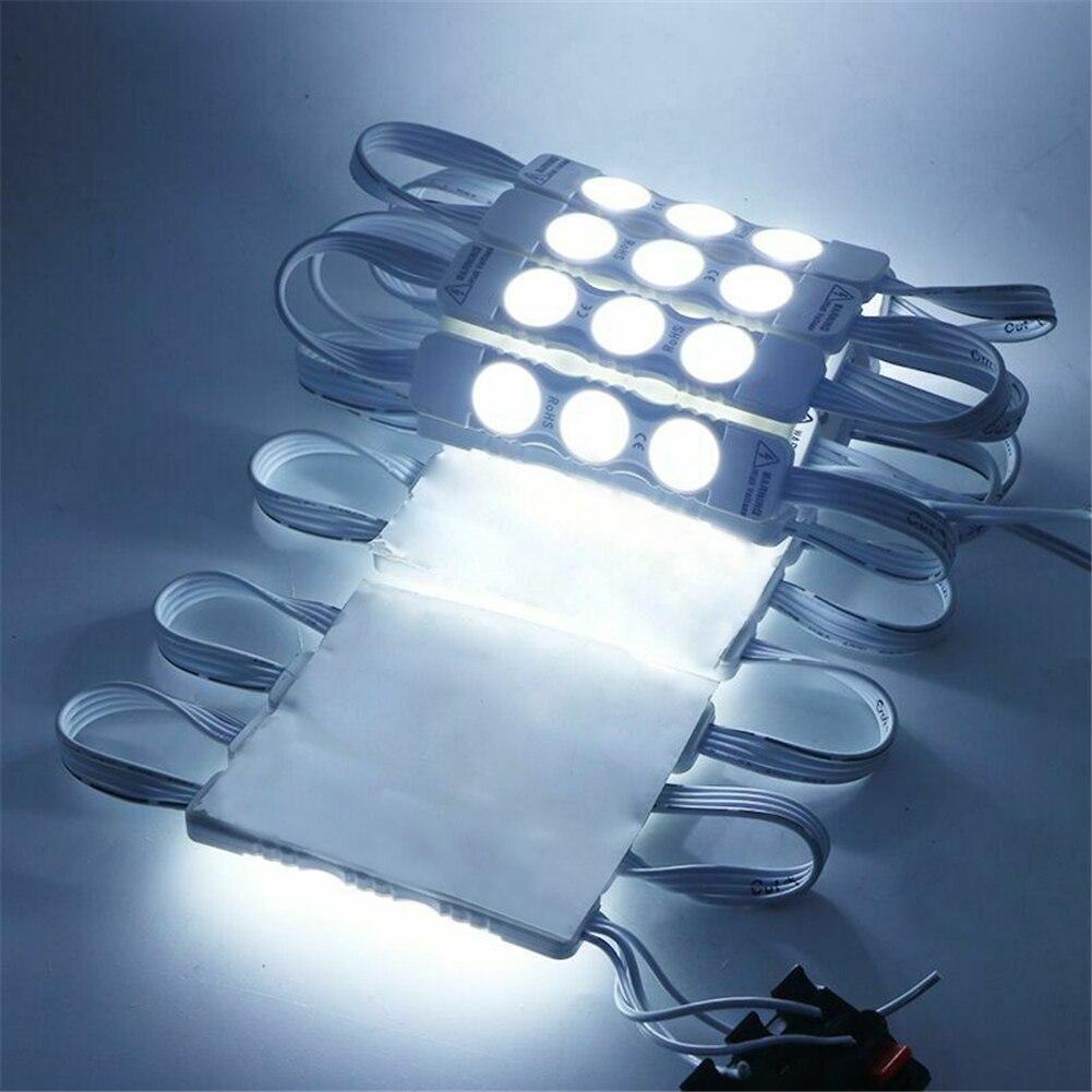 10pcs LED Module 2835 3 LED DC12V Waterproof Advertisement Design LED Modules White RGB Color Super Bright Lighting 110/220V