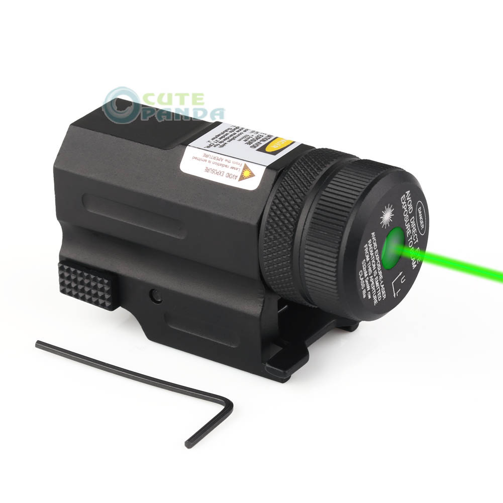 Mini Compact Green Laser Sight Riflescopes Hunting for Pistol Glock 17 19 20 23 21 hunting combo metal green dot laser sight led flashlight 200lm 3w with 20mm rail weaver picatinny for glock 17