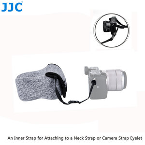 Image 5 - JJC لينة بدون مرآة حقيبة الكاميرا الصغيرة النيوبرين مقاوم للماء الحقيبة لسوني A6100 A6600 A6500 A6300 A6000 كانون M10 G3 X SX520