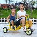 Triciclo para niños bicicleta doble cochecito de bebé 2 en 1 18 meses-8 años jardín de infantes doble tres ruedas bicicleta triciclo