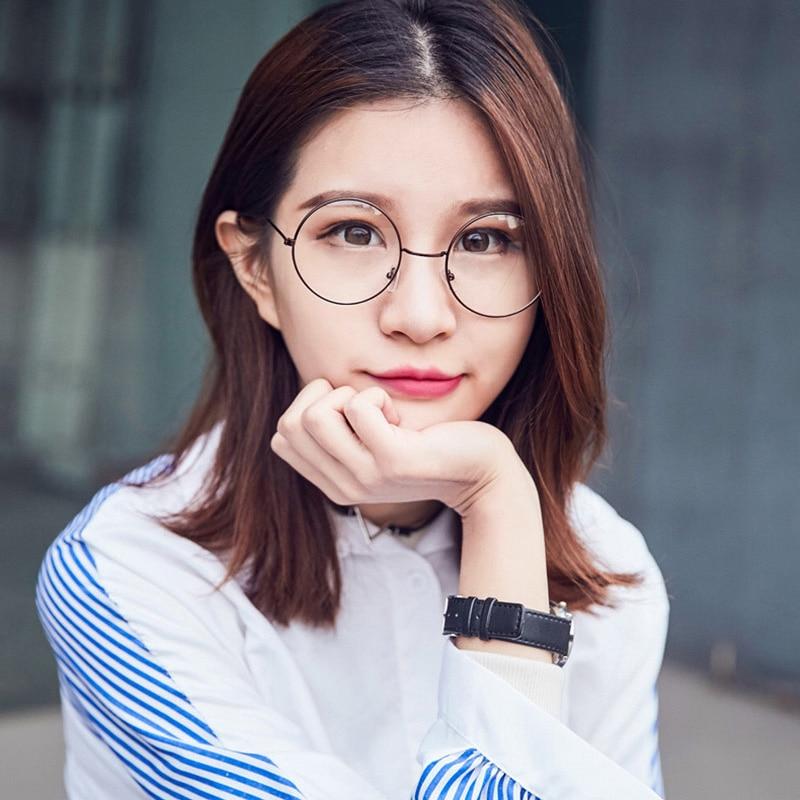 cb73a798d4 2018 new fashion retro big round computer eyewear frame 032 metal Korean  version mirror tide flat Harry Potter eyeglasses frames-in Eyewear Frames  from ...