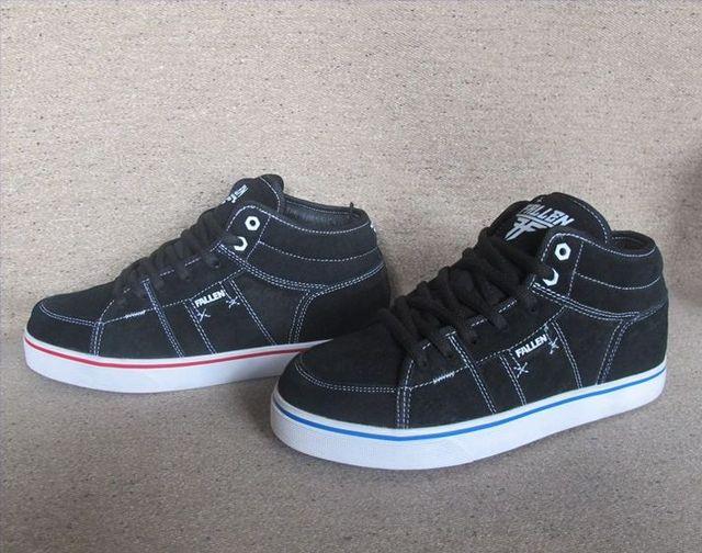 Single High Casual Men Suede Black Fallen Original Shoes In watFtqP