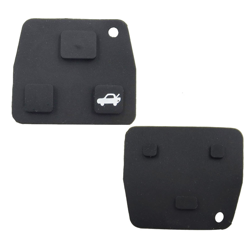 (50pcs/lot) Replacement Remote Key Silicon Rubber Pads 2 3 Buttons Car Key For Toyota Avensis Corolla Lexus RVA4