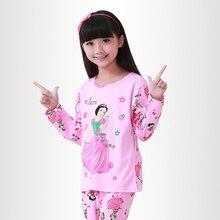 Hot kids pajamas sets Lovely cartoon Sleepwear Children Home wear Boys Girls long-sleeved nightwear models baby Clothes