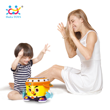 HUILE TOYS 6107 Baby Toy DJ Party Drum Toy with Music & Light Learning Educational Toys for Children