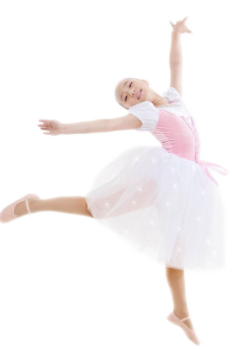 Blanc professionnel Ballet Costumes enfant danse vêtements femme enfants Costume robe enfants danse Costumes pour filles Ballet