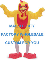 Big Yellow Chicken Mascot Costume Rooster Chicken Mascotte Outfit Suit Fancy Dress for Holiday Party Celebration Cosply SW621
