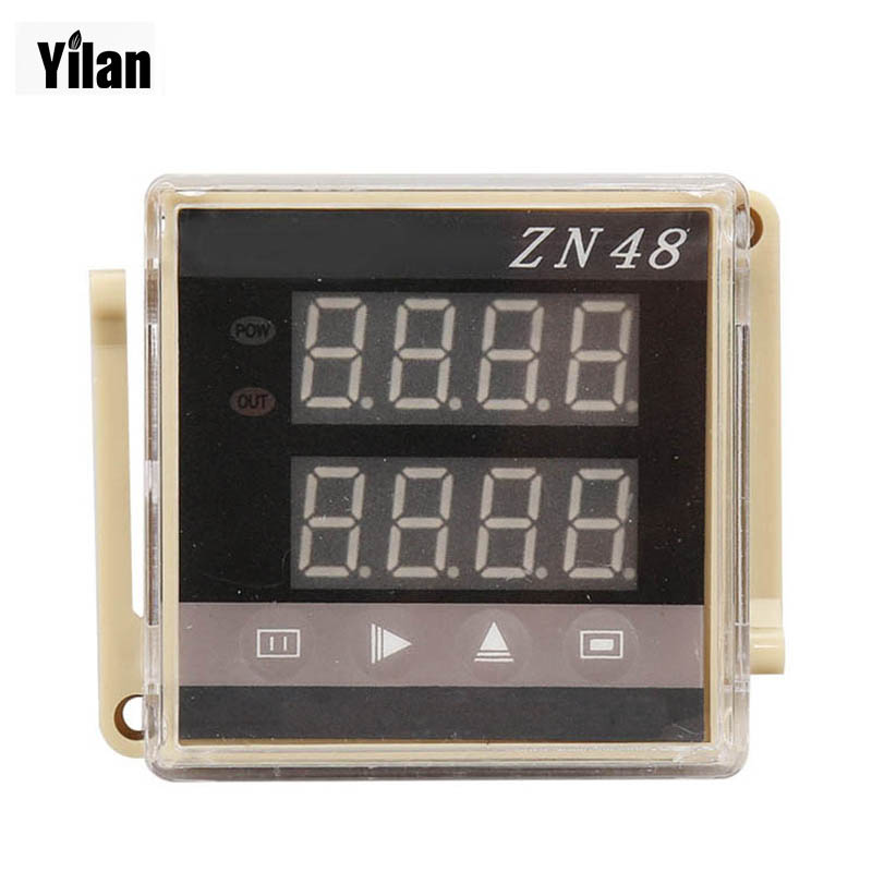 ZN48 Digital Double Row LED Display Time Relay Counter with 10 terminals