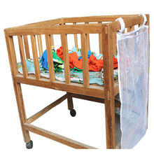 Bed Opknoping Opbergtas Baby Wieg Bed Baby Bed Pouch Katoen Crib Organizer 48*60 Cm Mum Luier Zak(China)