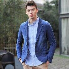 2017 New Arrival Brand Clothes Men Jackets Blue Denim Blazer Spring Slim Fit Jeans Casual Blazer Jacket Coats Clothes A3354