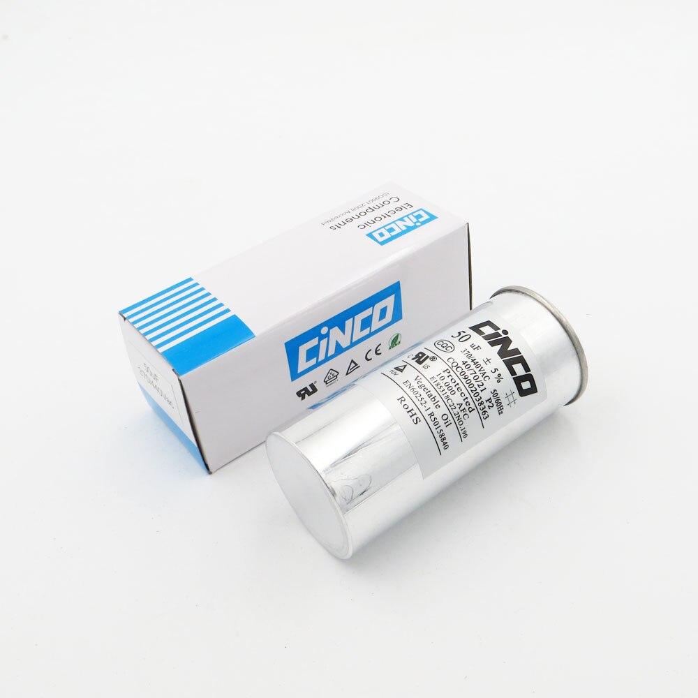 50 Uf 370/440vac Run Kondensator Klimaanlage Kompressor Motor Start Kondensator Cbb65 Aluminium Können P2 Cbb65a-1 50mfd 50mf 450 V 100% Garantie Home