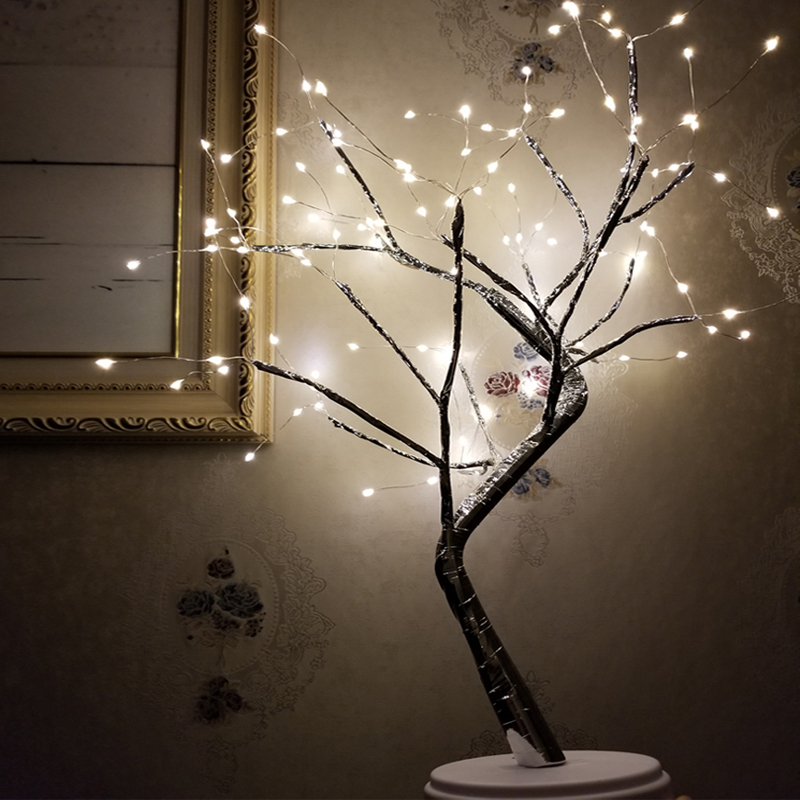 Switch Control Tree Bright LED Lamp 108LEDS Cherry Tree Lights 60cm LED Tree Light For Home Christmas Holiday Decor USB PLUG 5V