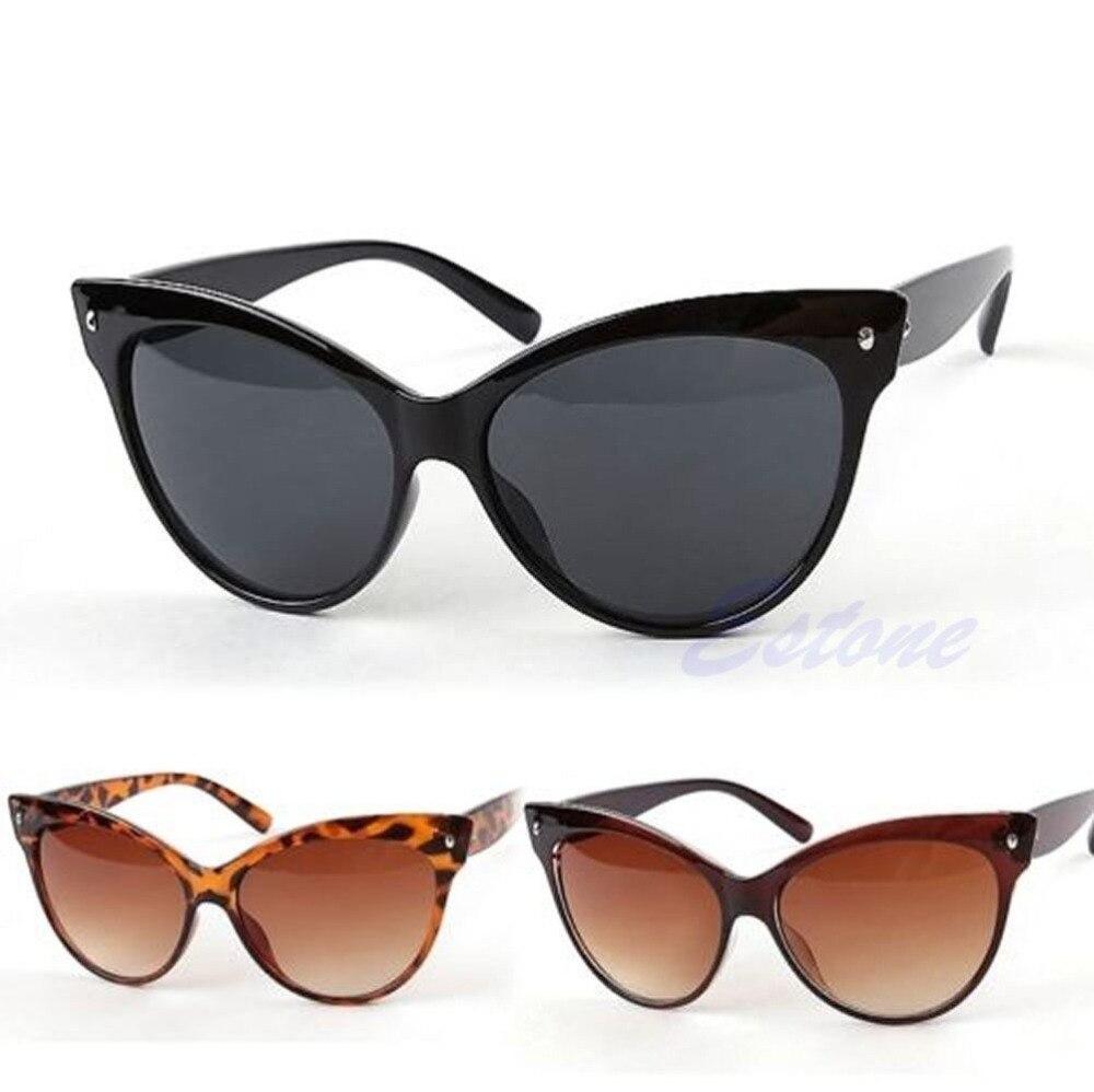 Retro Fashion Shades Eyewear Women's Oversized Frame Cat Eye Sunglasses